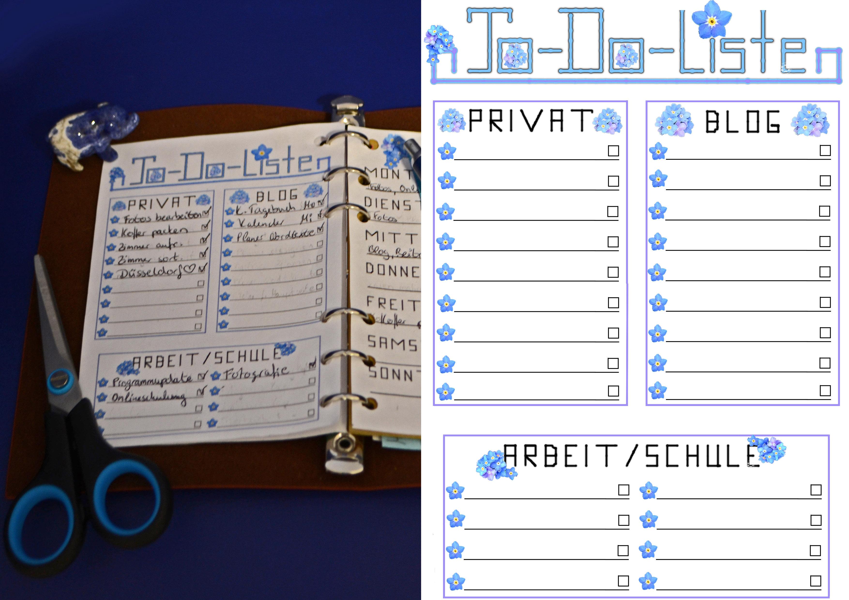organizer planer todoliste privat arbeit schule blog. Black Bedroom Furniture Sets. Home Design Ideas