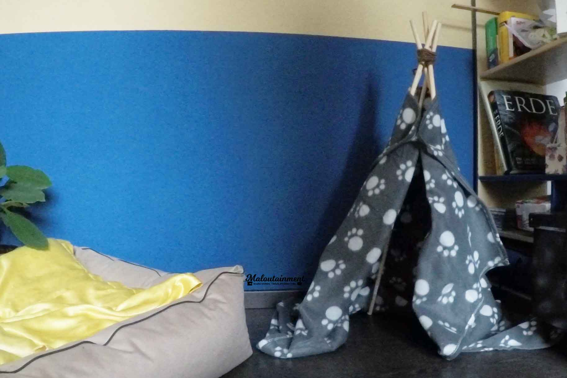Maloutainment Fotografie DIY Do it yourself Kreativ Basteln Tier Hunde Katzen Wohnen Einrichten Moebelstueck Tippi Hoehle Blog Tipi
