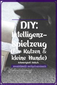 Maloutainment Blogger Essen Rezepte DIY Fotografie Romane Blog , Anleitung Intelligenzsspielzeug basteln Spielzeug selbermachen für Katzen Hunde Upcycling Pappe Leckerli Klorolle