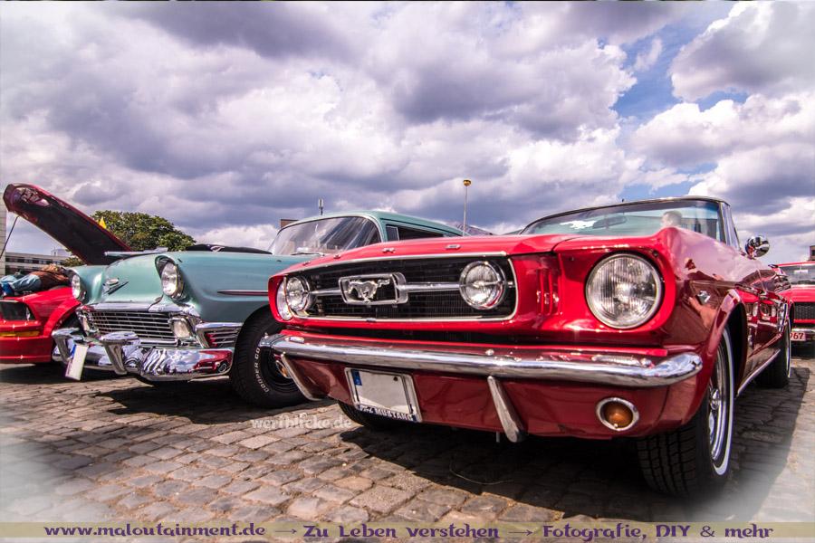 Mustang bei Autotreffen - Copyright wertblicke.de