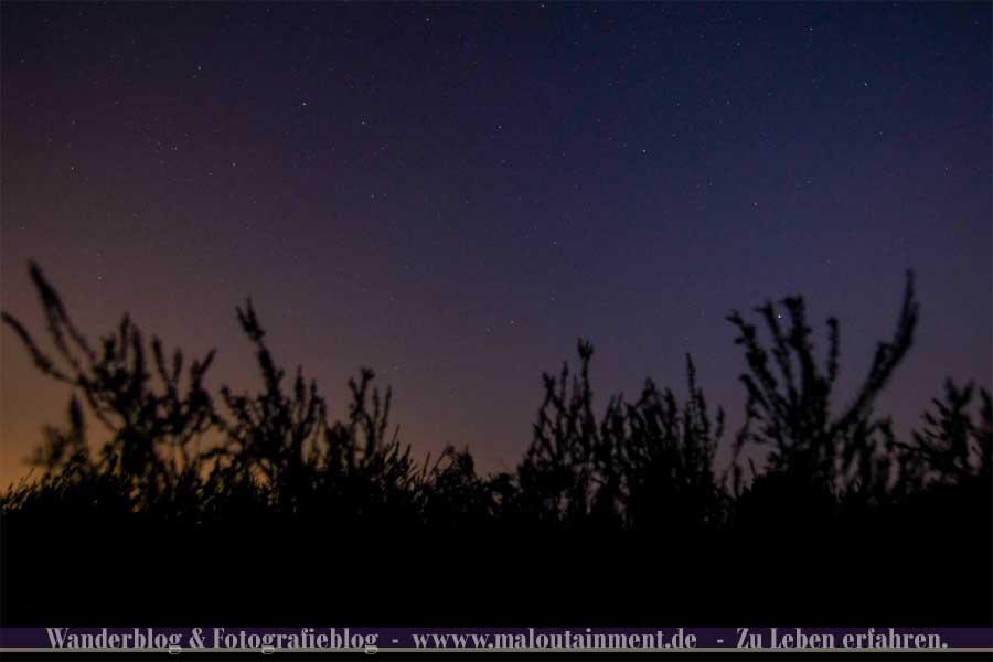 Nächtlicher Sternenhimmel in der Lüneburger Heide